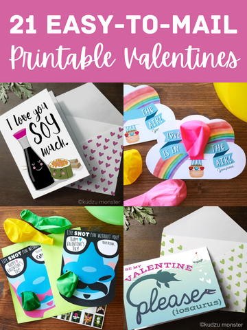 21 Easy-to-Mail Printable Valentines