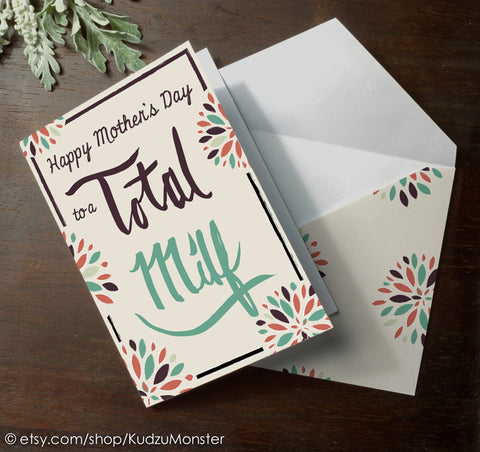 Funny mother's day card from spouse