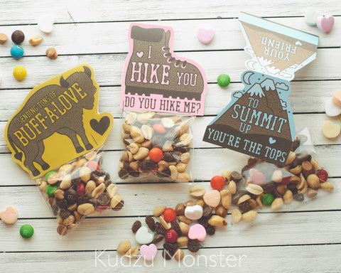 Printable outdoorsy trail mix valentine variety pack
