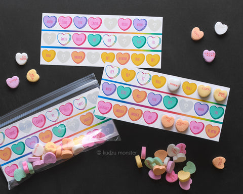 pattern finding valentine activity
