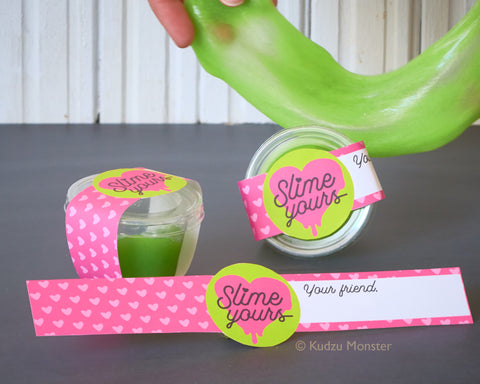 slime yours valentine printable