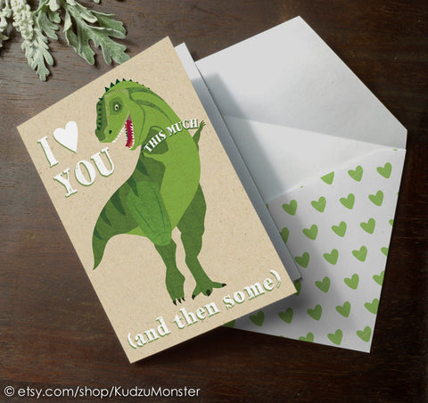 Printable t-rex fathers day card #2