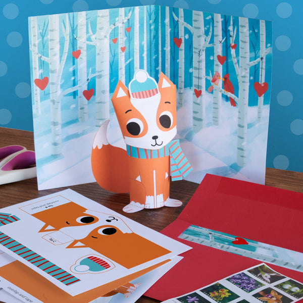 3D Fox Valentine Mail Craft Kit