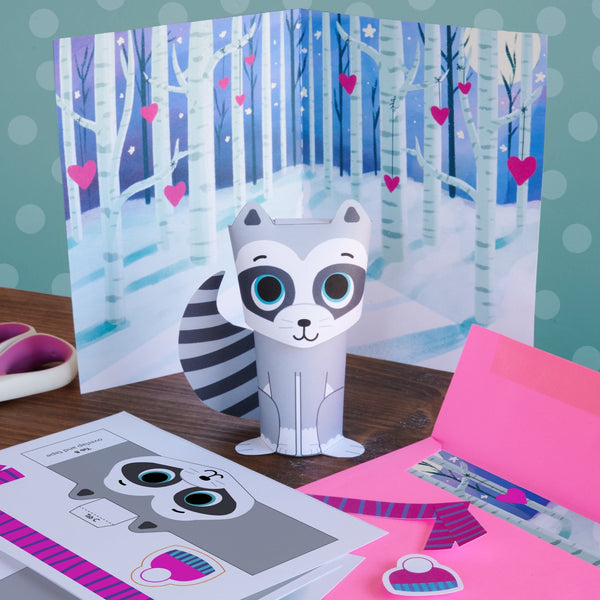 3D Raccoon Valentine Mail Craft Kit