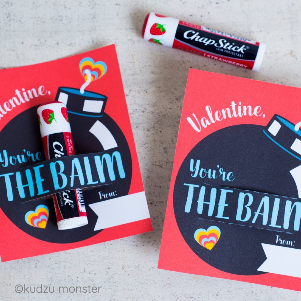 photograph regarding You Re the Balm Printable referred to as Youre the BALM Valentine