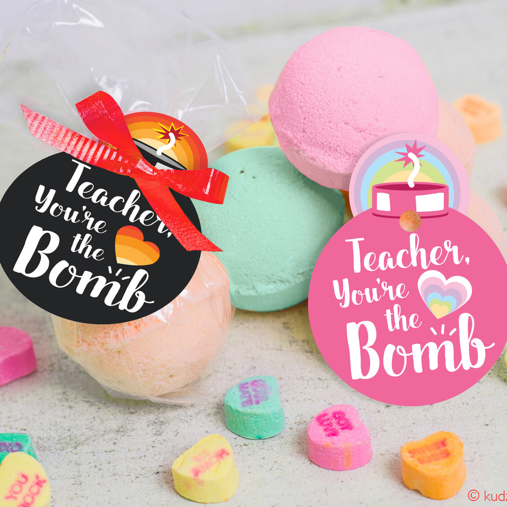 Teacher You're the Bomb! Bath Bomb Gift Tag