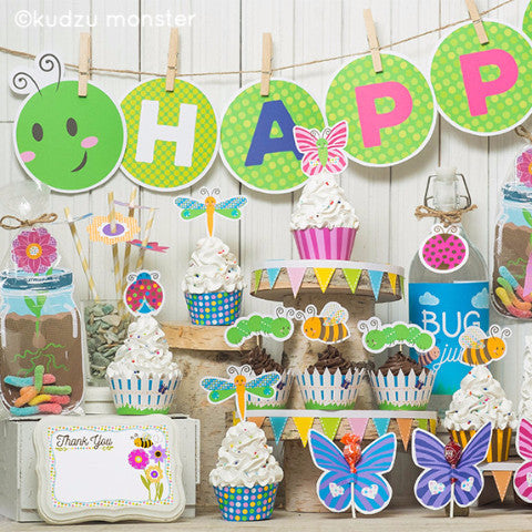 Printable Bug Garden Party Deluxe Kit - Kudzu Monster  - 1