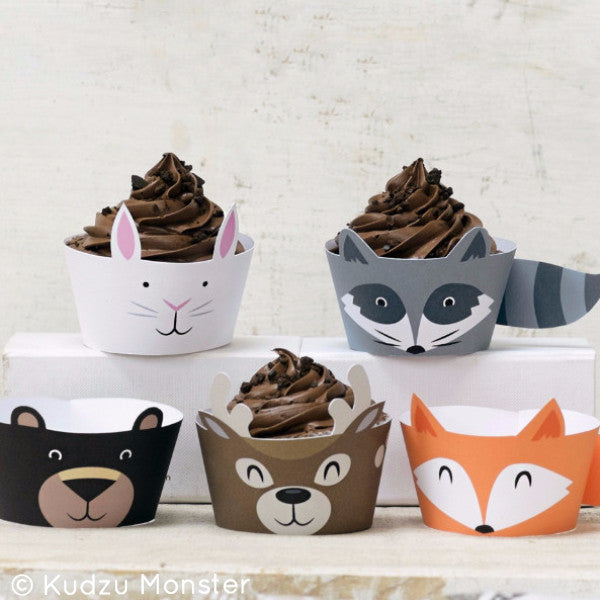 Woodland Cupcake Wrappers - Kudzu Monster