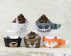 woodland critter cupcake decor kit