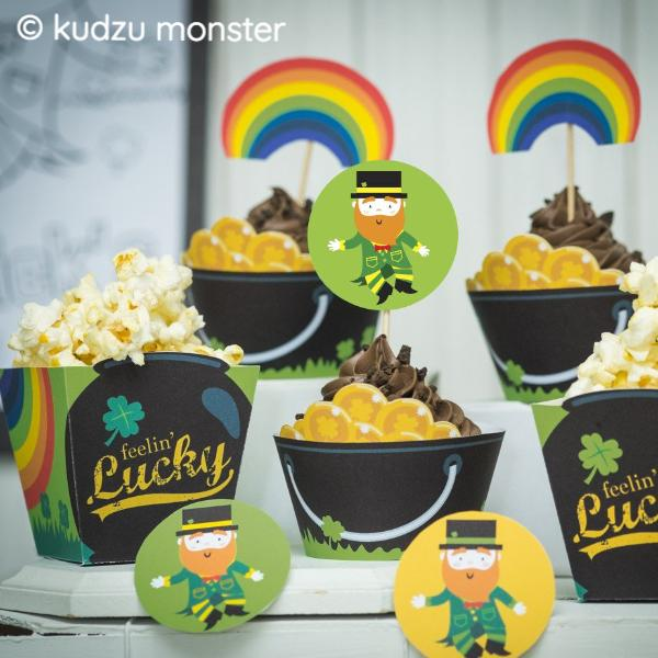 Printable St. Patrick's Day Kid's Party Decor Kit - Kudzu Monster  - 2