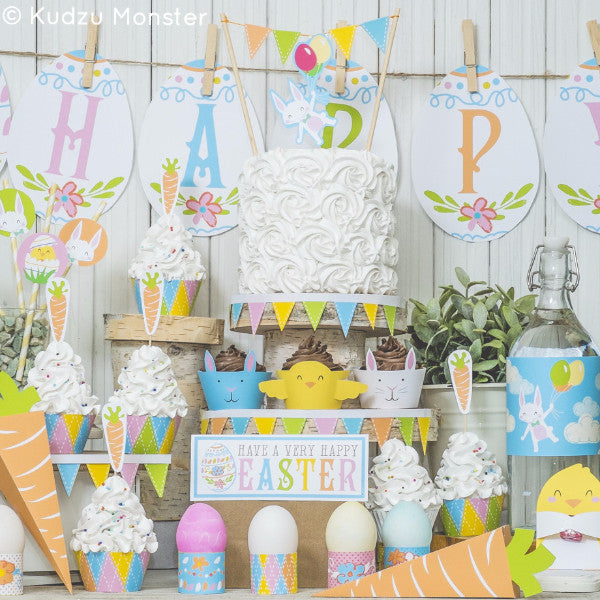 Printable Easter Party Decor Deluxe Kit - Kudzu Monster  - 1