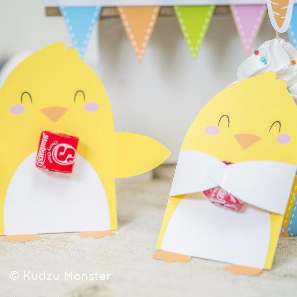Printable Easter Chick Candy Huggers - Kudzu Monster