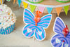 butterfly sucker holder party favor printable