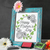 Mother's Day Finger Paint Art Activity: Floral Wreath