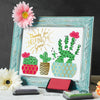 Mother's Day Finger Paint Art Activity: Cactus Succulents