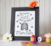 Mother's Day Finger Paint Art Activity: Bumble Bee