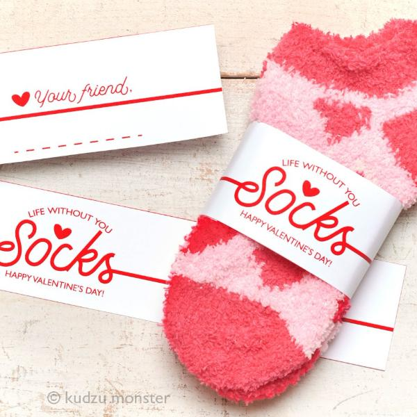 Life Without You Socks Valentine