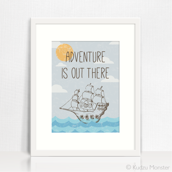 Adventurer Pirate Ship Instant Art - Kudzu Monster