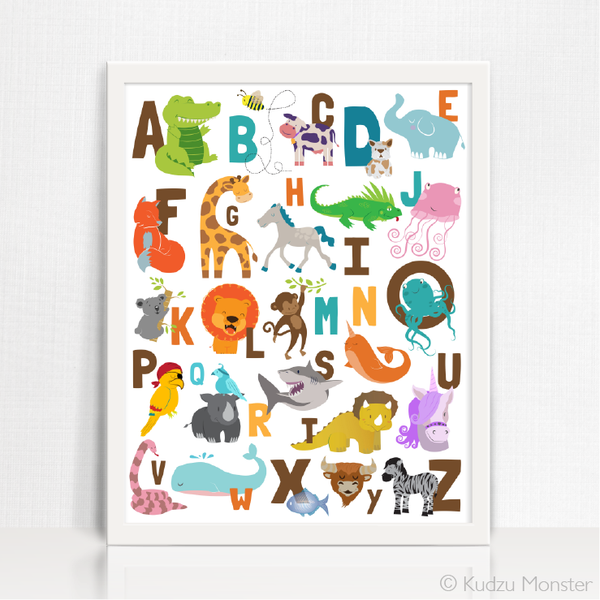 print at home animal alphabet art download