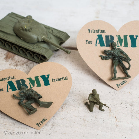 Printable non-candy army valentine