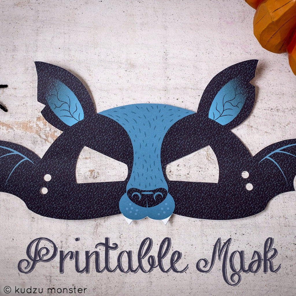 Printable Bat Mask - Kudzu Monster  - 1