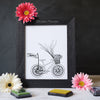 Mother's Day Finger Paint Art Activity: Balloons Bicycle