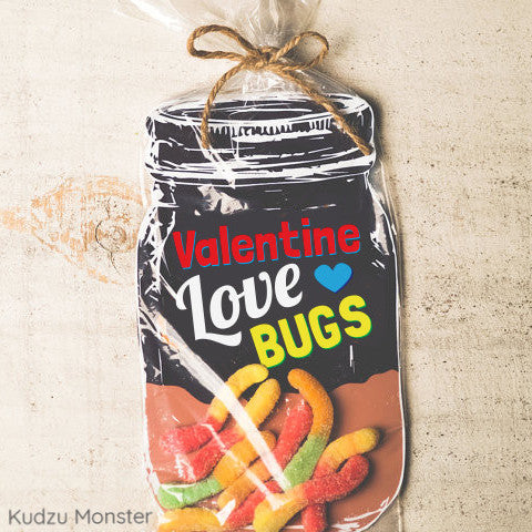 Love Bug Mason Jar Valentine - Kudzu Monster