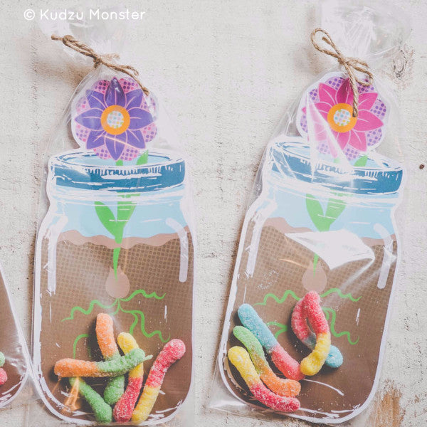 Printable Mason Jar Gift Bag Inserts - Kudzu Monster