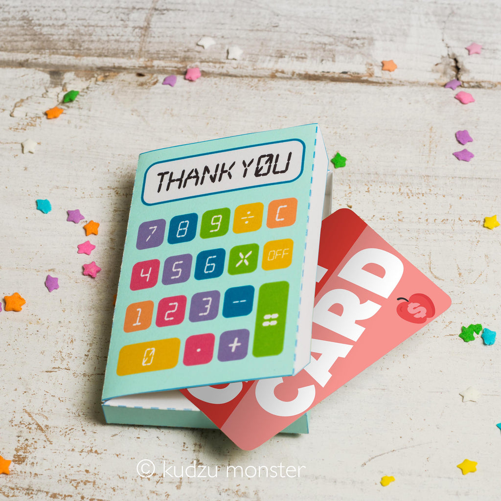 Teacher Appreciation Gift Card Box: Calculator