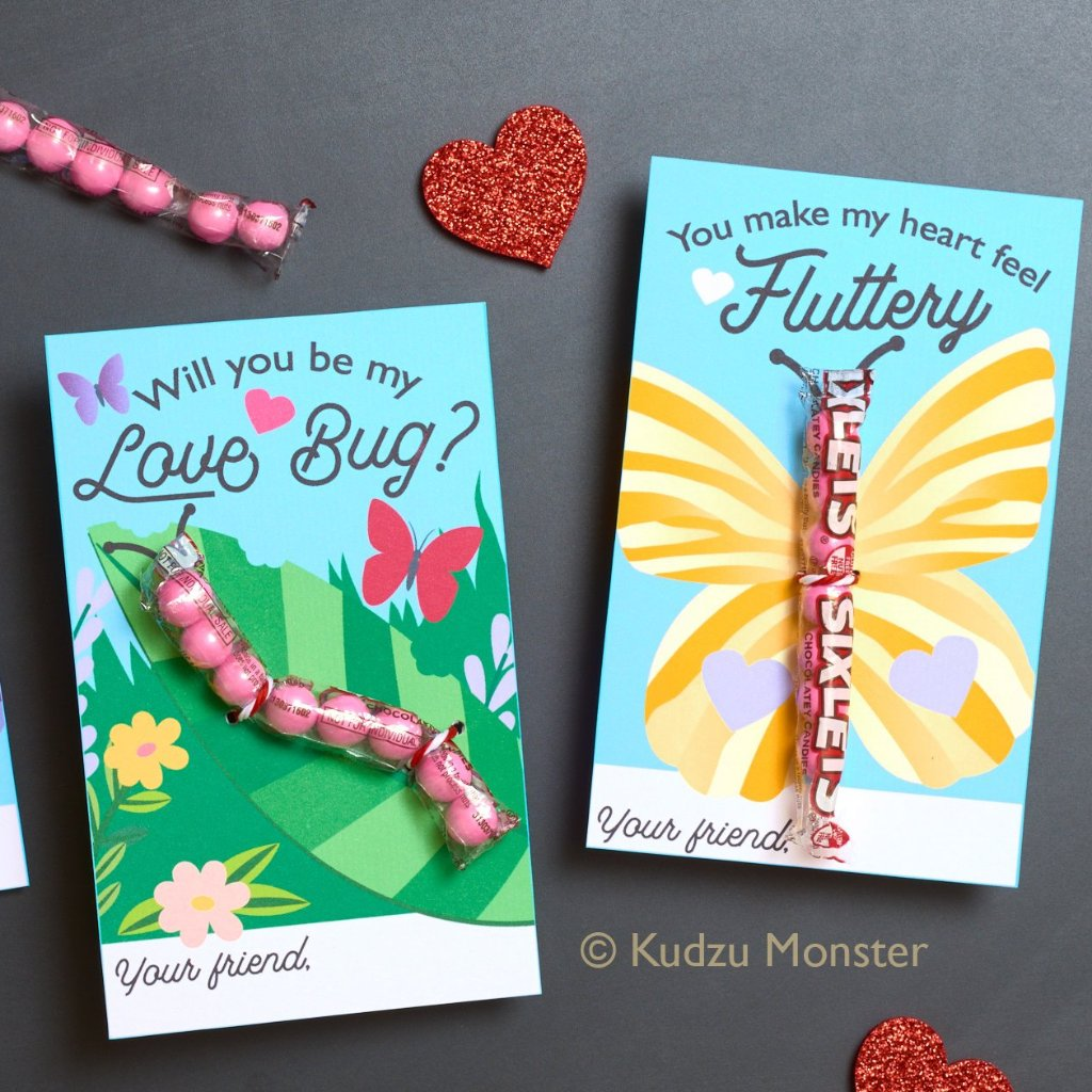 Butterfly Caterpillar Valentine