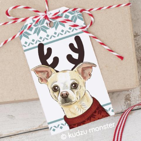 Printable Chihuahua Gift Tags
