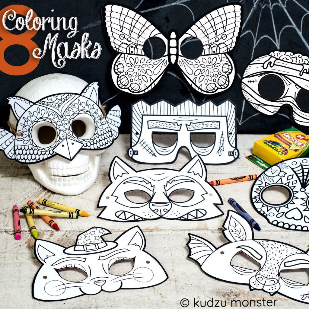 Printable Coloring Mask Set