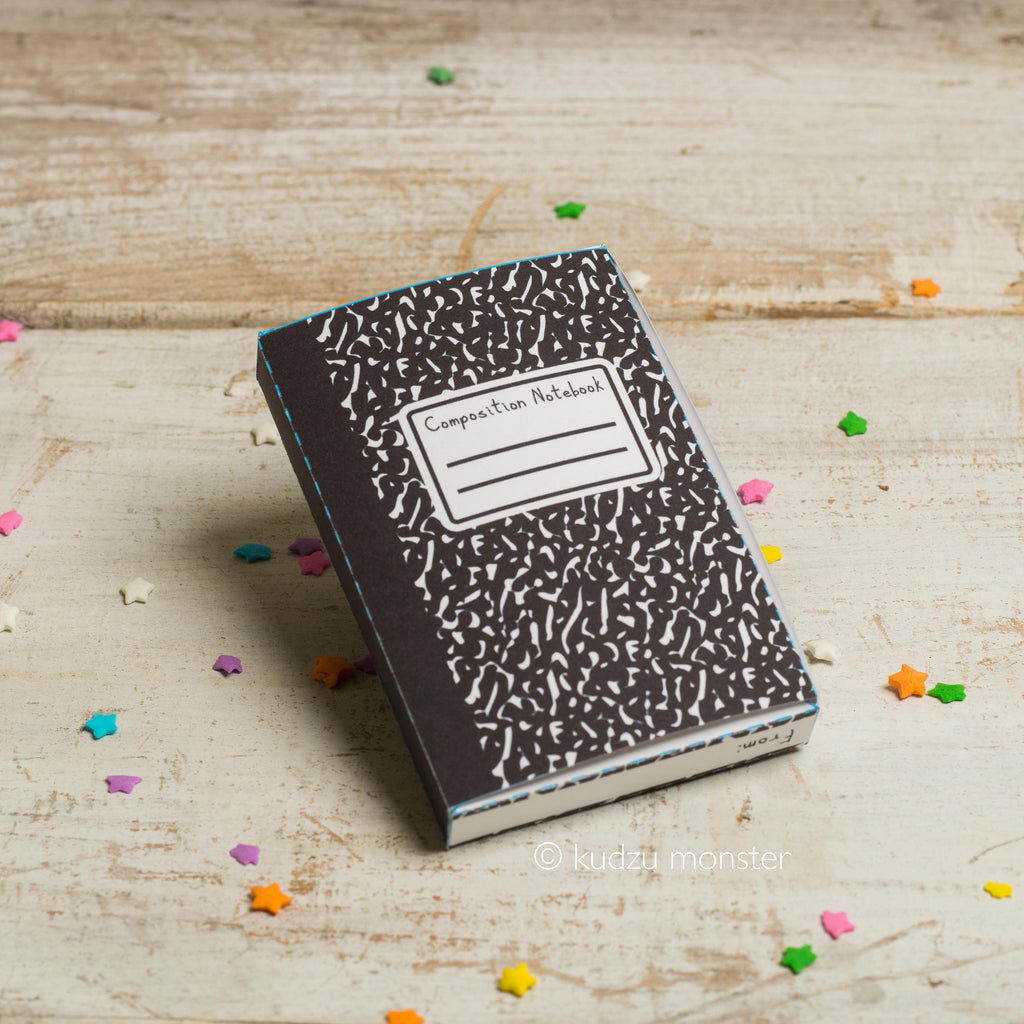 Teacher Appreciation Gift Card Box: Composition Notebook