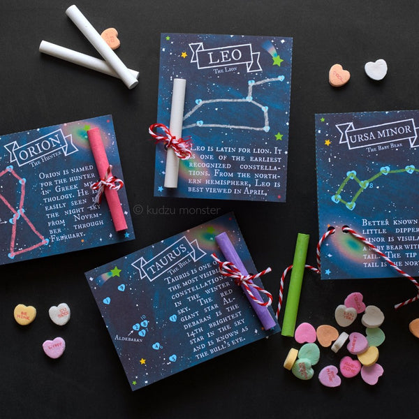 Constellations Connect the Dot Valentine Activity