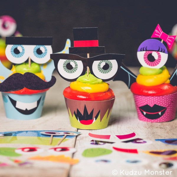 Printable Make a Monster Cupcake Kit - Kudzu Monster  - 1