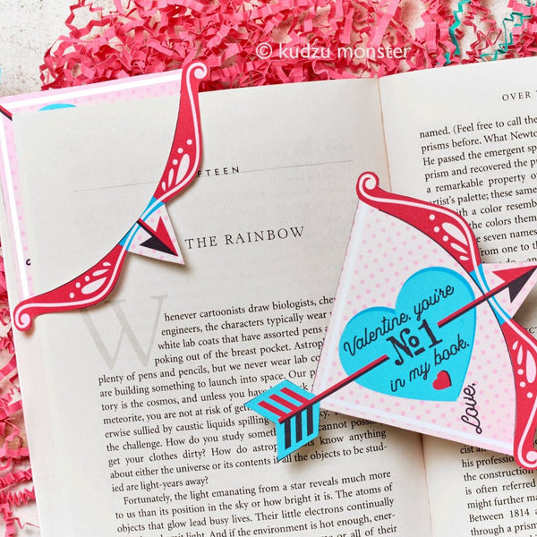 Cupid's Arrow Valentine Bookmark