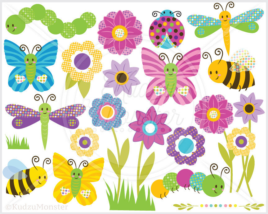 Cute Bugs Clip Art Graphics - Kudzu Monster