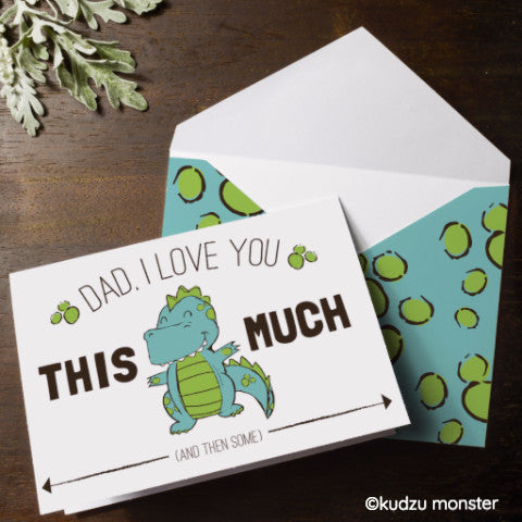Father's Day Cute Dinosaur Card