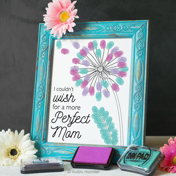 Mother's Day Finger Paint Art Activity: Dandelion