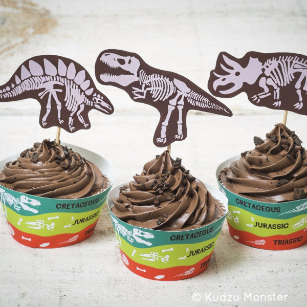 Dinosaur Fossils Cupcake Kit - Kudzu Monster
