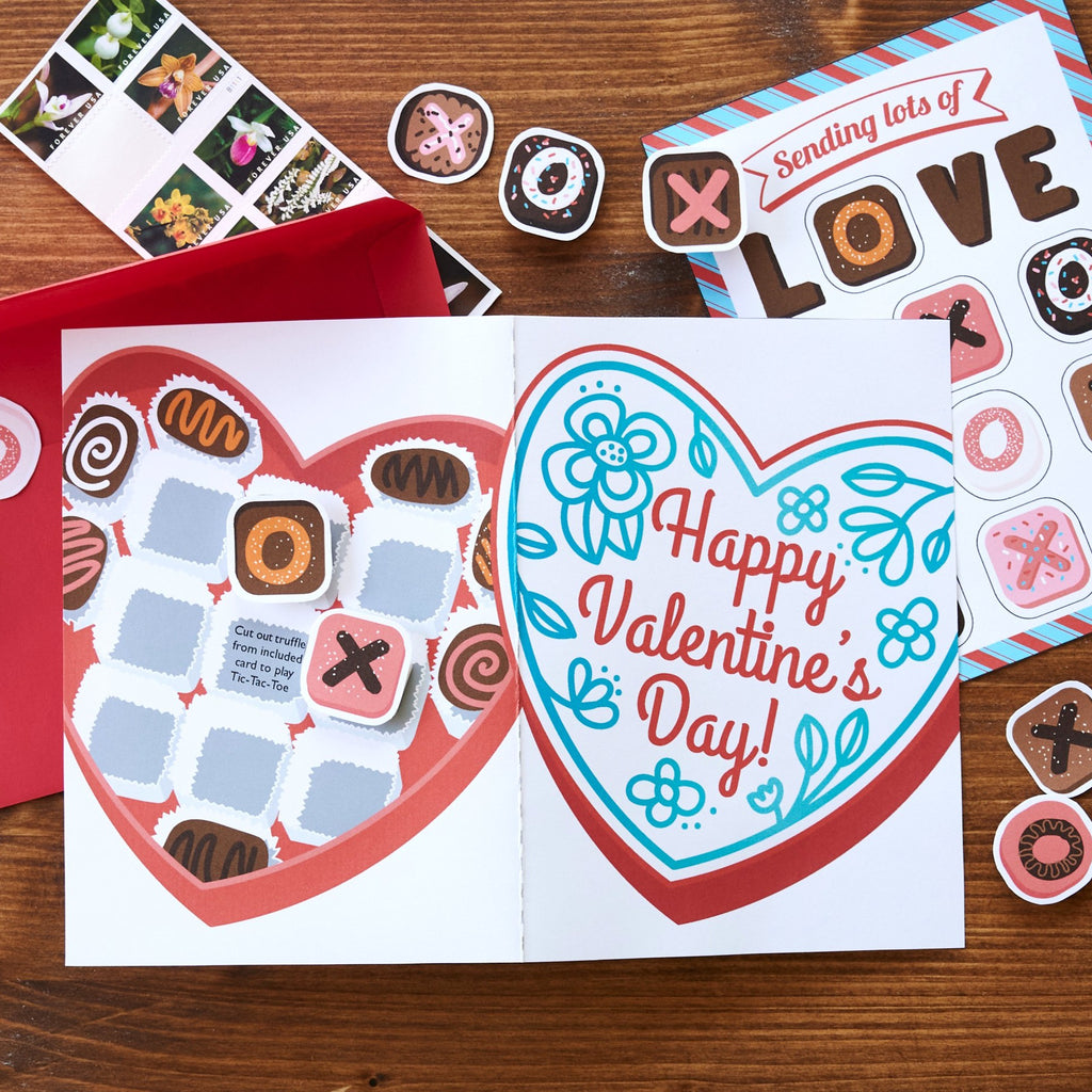 Chocolates Tic Tac Toe Card
