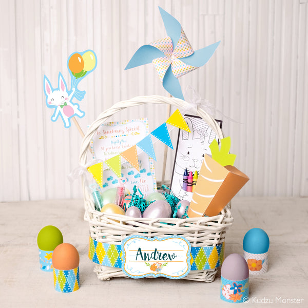 Printable Easter Basket Kit - Kudzu Monster  - 1