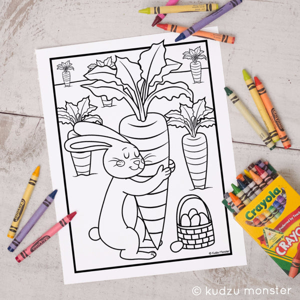 FREE Printable Easter Bunny Coloring Sheet - Kudzu Monster