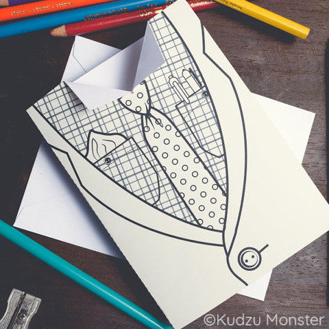 Father's Day Tie Coloring Greeting Card