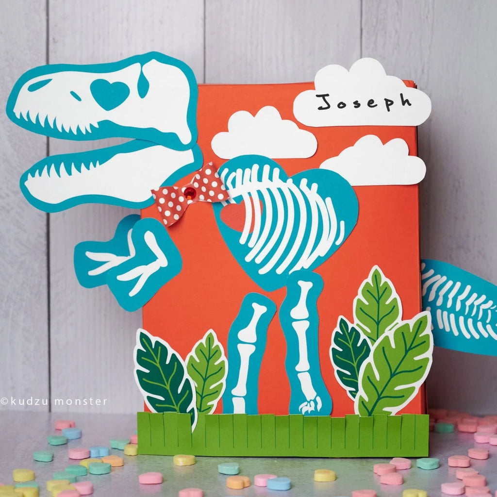 Dino Fossil Valentine Box Decor Kit
