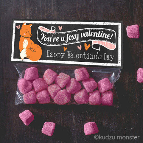 Valentine Fox Treat Topper - Kudzu Monster