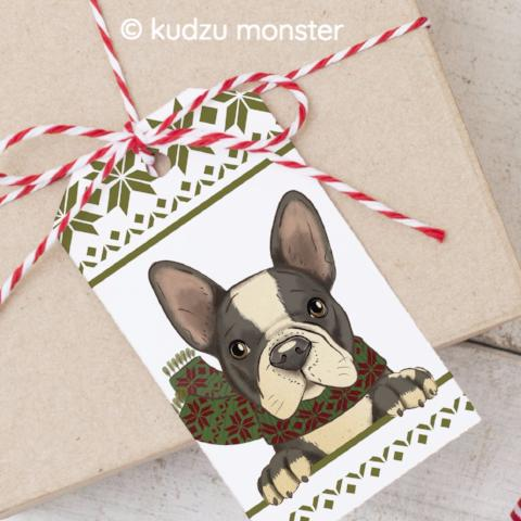 Printable Frenchie Gift Tag