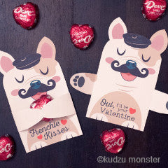 Valentine French Bulldog Candy Huggers - Kudzu Monster