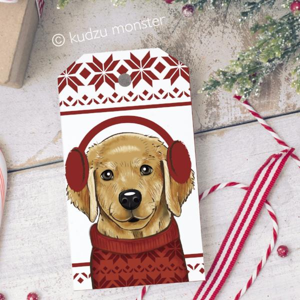 DIY Golden Retriever Gift Tags