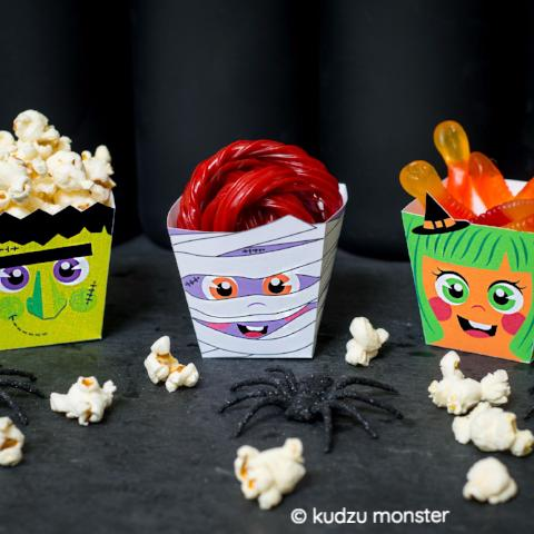 DIY Halloween Popcorn/Candy Boxes